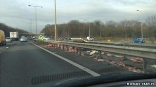 Meat on M1 in Northamptonshire