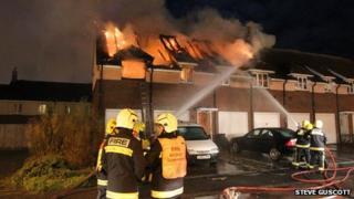 House fire in Minhead