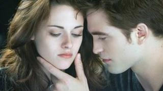 Kristen Stewart and Robert Pattinson in The Twilight Saga: Breaking Dawn