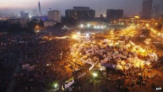 Protest in Tahrir Square, Cairo, Egypt (1 Dec 2012)