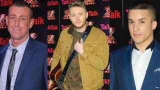 The X Factor 2012 finalists: Christopher Maloney, James Arthur and Jahmene Douglas.