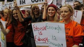 Protesters in Dublin