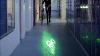 Bike light in corridor