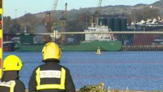 The Arklow Meadow docked in Warrenpoint Harbour