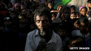 Rohingyas in a camp for displaced people on the outskirts of Sittwe, Burma, 24 November 2012