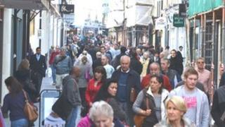Shoppers in Jersey