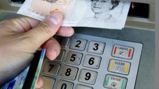 Cash withdrawal at ATM