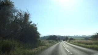 The A436 between Andoversford and Bourton-on-the-Water