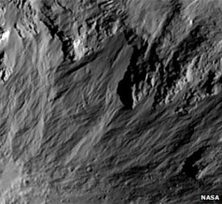 Vesta gullies