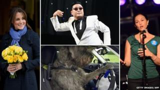 Kate Middleton, Psy, a driving dog and Ashley Judd