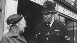 The traditional helmet, as immortalised in the 1960s drama Dixon Of Dock Green