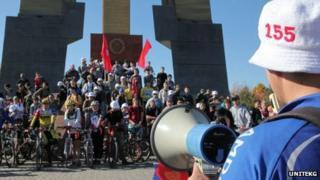 Bike ride to highlight Article 155 (Image courtesy of UNiTEKG)