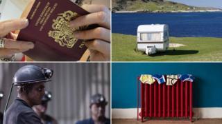 Passport, caravan, radiator and miner