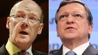 John Swinney and Jose Manuel Barroso