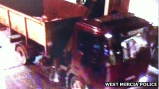 CCTV image of the lorry