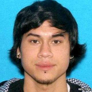 Jacob Tyler Roberts, 22, is seen in this undated picture released by the Clackamas County Sheriff's Office