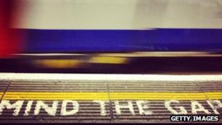 Tube station platform