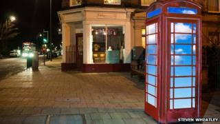 Artist's impression of how the phone box will look