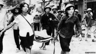 North Vietnamese rescue workers