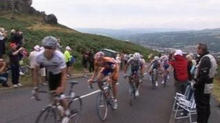 Cycle race in Yorkshire