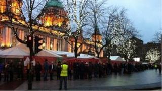 Prayer vigil at Belfast City Hall