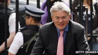 The then-chief whip, Andrew Mitchell, in Downing Street