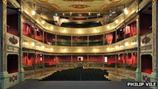 View from the stage of Bristol Old Vic Theatre
