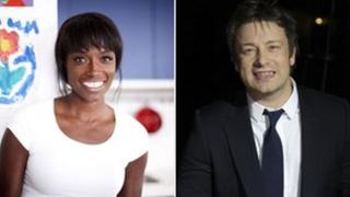 Lorraine Pascale and Jamie Oliver