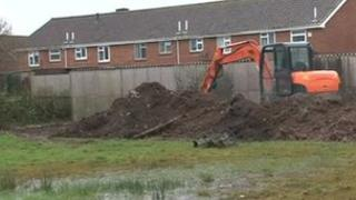 Ditch being built in Cannington