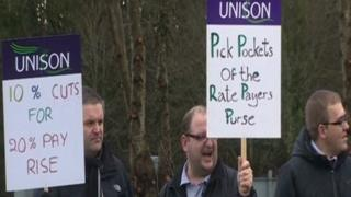 The Unison protest
