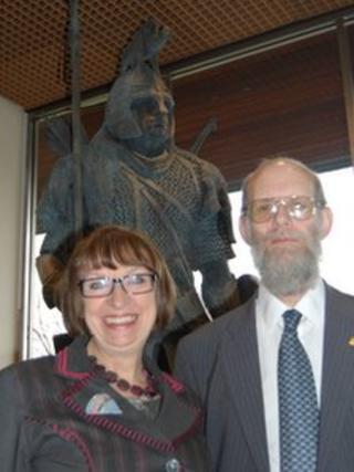 Nina Dawes and Dr David Symons
