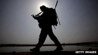 A British soldier in Iraq