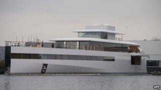 The high-tech yacht Venus