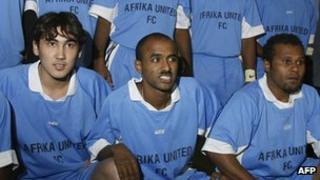 Afrika United football players