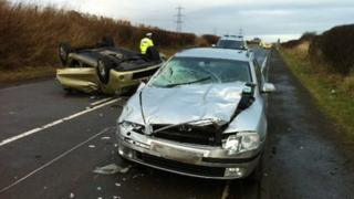 A68 crash