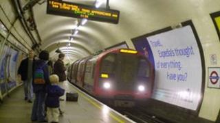 London Underground station platform