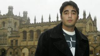Bilawal Bhutto-Zardari at Christ Church College in Oxford (11 January 2008)