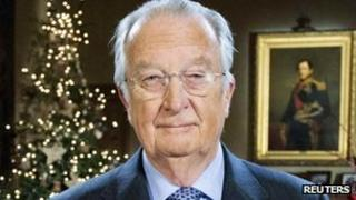 King Albert II gives Christmas speech at Royal Palace in Brussels (24 Dec 2012)