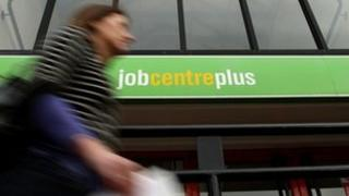 worker passing job centre