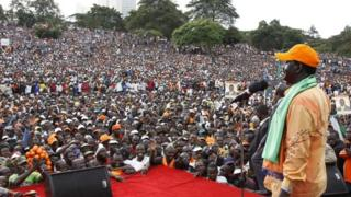 Raila Odinga addresses his supporters (22/12/12)