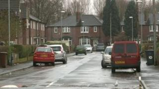 The attack took place at a house on Caldervale Avenue