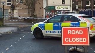 Police cordon at London Road