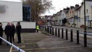 Police at Lymington Road