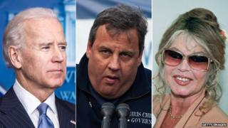 Joe Biden, Chris Christie and Brigitte Bardot