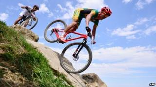 Burry Stander on his bike (12 August 2012)