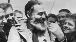 Hemingway with US troops in 1944