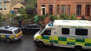 Crime scene in Shawlands