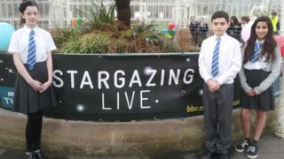 Erin, Peter and Kaela at Stargazing Live