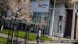 Teesside University campus