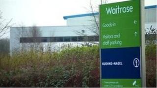 Waitrose distribution centre in Bardon